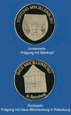 Münze der Stiftung Mecklenburg