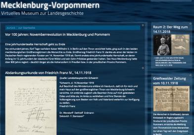 Neue Ausstellung zur Novemberrevolution 1918 unter www.landesmuseum-mv.de