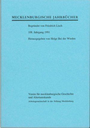 Mecklenburgische Jahrbücher 108 (1991)